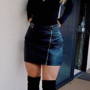 NEVER WORN. topshop leather skirt